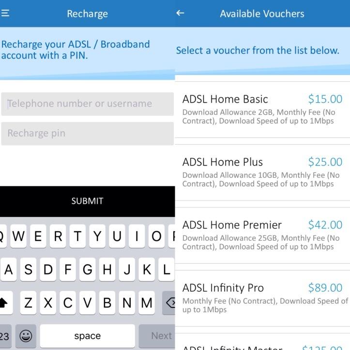 paying bills on the telone app