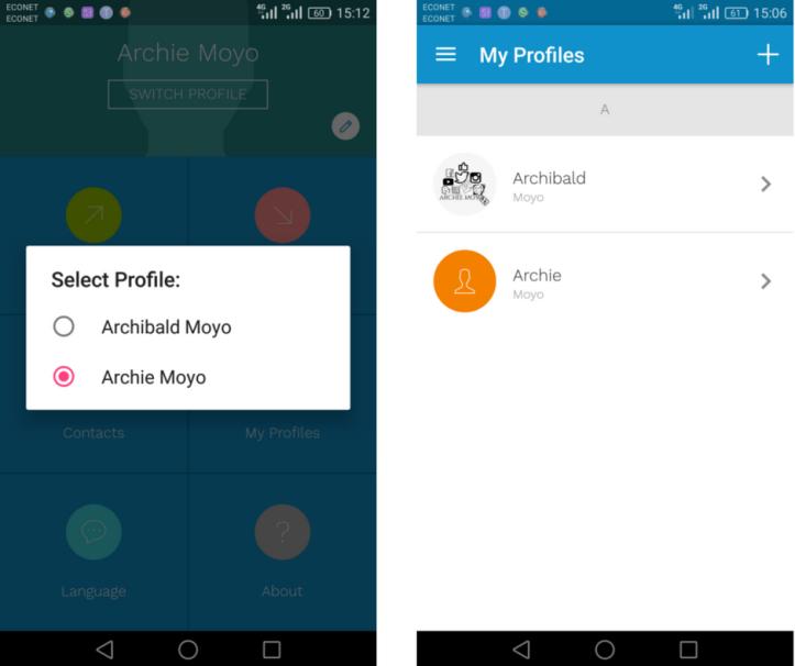 Deet app profiles