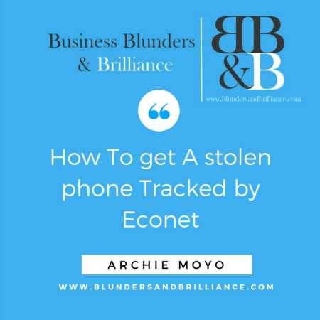 How to get a stolen phone tracked by Econet