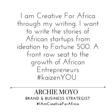 #IAmCreativeForAfrica_Archie_Moyo