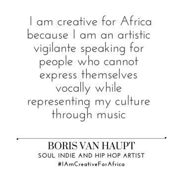 #IAmCreativeForAfrica_Boris_Van_Haupt