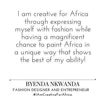 #IAmCreativeForAfrica_byenda_nkwanda