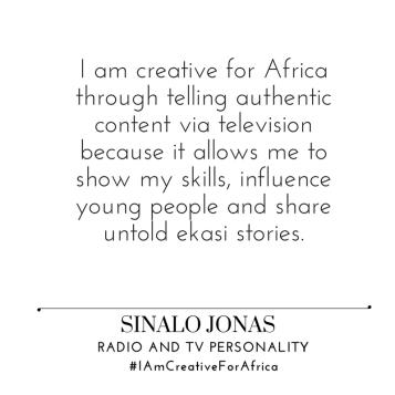#IAmCreativeForAfrica_Sinalo_Jonas