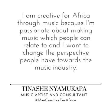 #IAmCreativeForAfrica_Tinashe_Nyamukupa