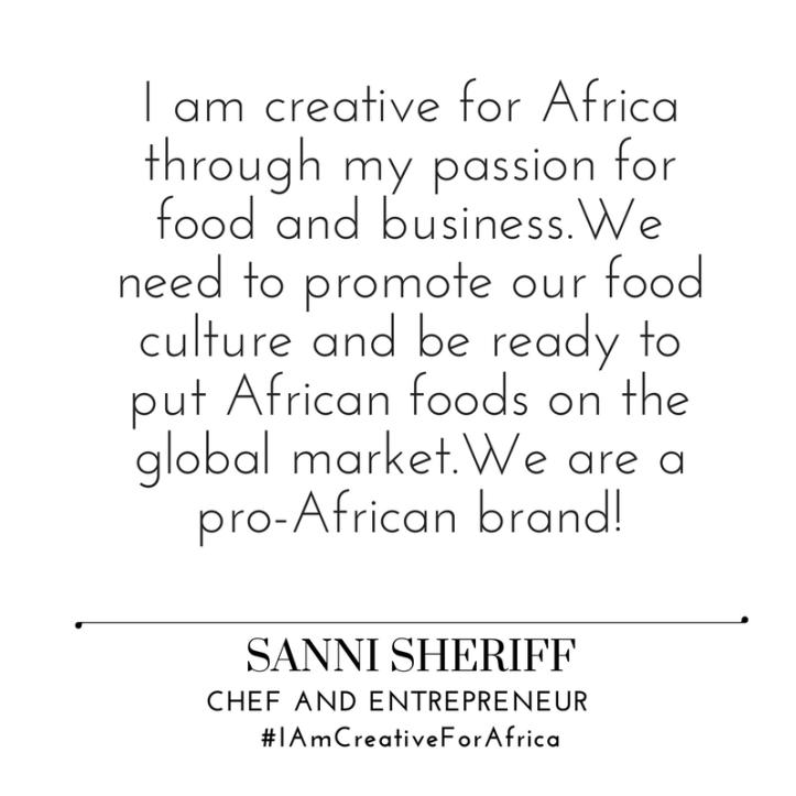 #IAmCreativeForAfrica - Sanni Sheriff